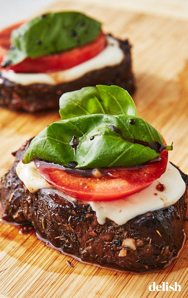 """<p>You only need to make two pieces of of Caprese Steak stacks for a special holiday dinner.</p><p>Get the recipe from <a href=""""https://www.delish.com/cooking/recipe-ideas/recipes/a48615/caprese-steak-recipe/"""" target=""""_blank"""">Delish</a>.</p>"""