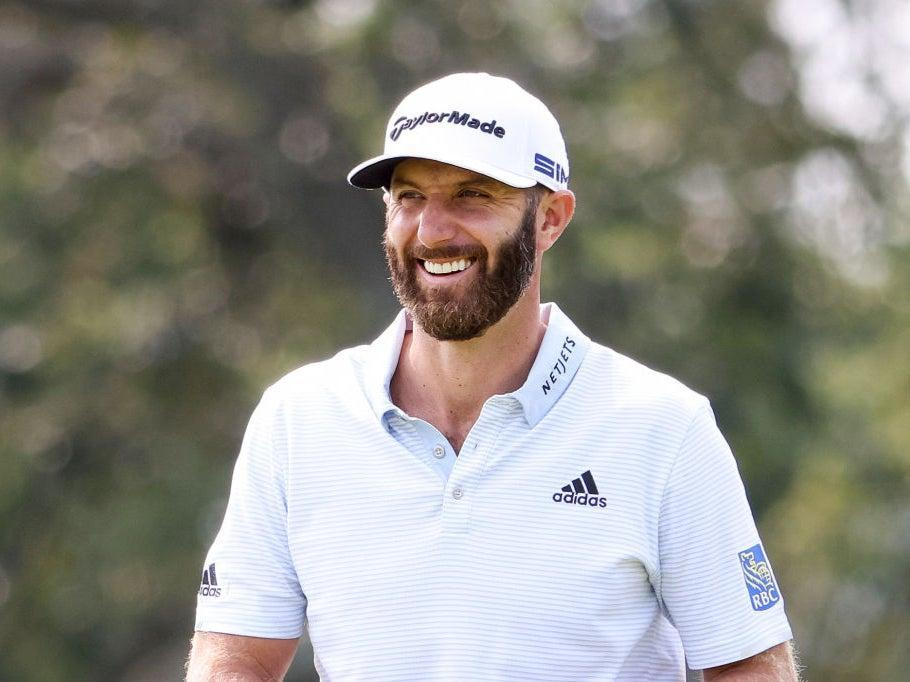 World No 1 is all smiles in practice at Winged Foot (Getty)