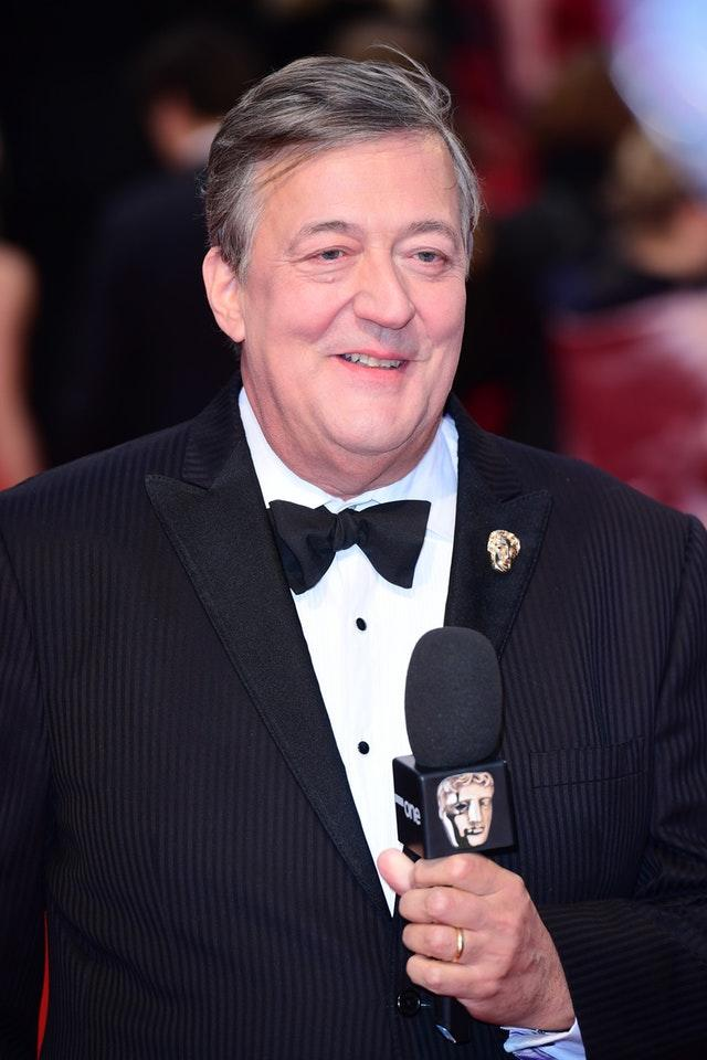 Stephen Fry attending the EE British Academy Film Awards