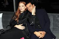 <p>Jessica Chastain and Oscar Isaac cozy up at the <em>Scenes From a Marriage</em> finale screening in N.Y.C. on Oct. 10.</p>