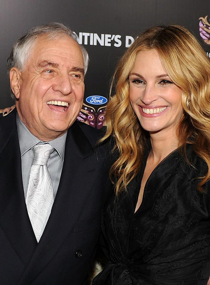 "<a href=""http://movies.yahoo.com/movie/contributor/1800019212"">Garry Marshall</a> and <a href=""http://movies.yahoo.com/movie/contributor/1800019215"">Julia Roberts</a> at the Los Angeles premiere of <a href=""http://movies.yahoo.com/movie/1810094501/info"">Valentine's Day</a> - 02/08/2010"