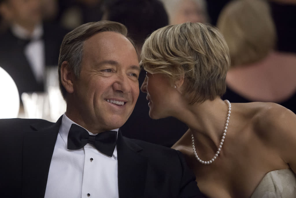 "Kevin Spacey and Robin Wright in the ""House of Cards"" Season 1 episode, ""Chapter 2."""