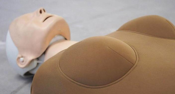 The WoManikin aims to tackle gender equality surrounding cardiac arrest. [Photo: JOAN Creative]