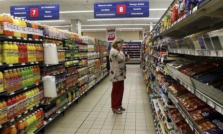 A shopper is seen at a branch of South African retailer Pick n Pay in Johannesburg