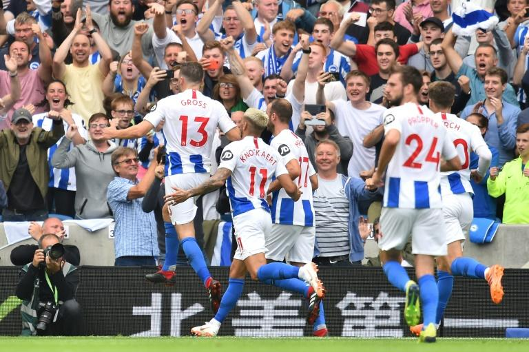 Brighton beat Manchester United to pile the pressure on Jose Mourinho