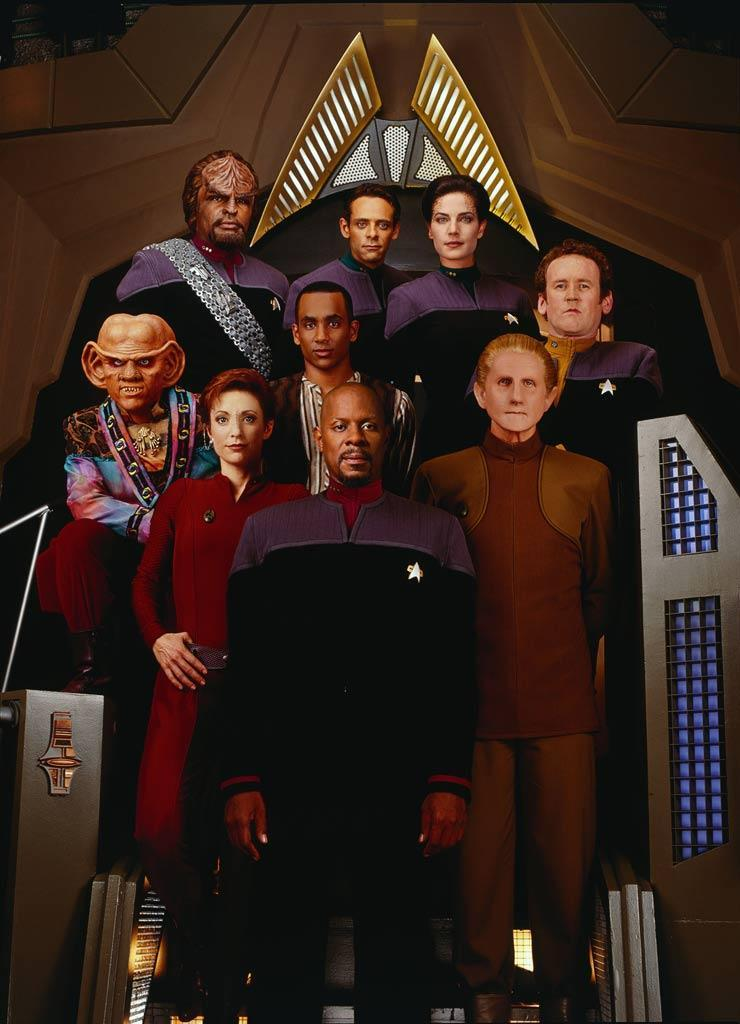 """Set during the same time frame as Next Generation, <a href=""""/star-trek-deep-space-nine/show/33813"""" data-ylk=""""slk:&quot;Star Trek: Deep Space Nine&quot;"""" class=""""link rapid-noclick-resp"""">""""Star Trek: Deep Space Nine""""</a> (1993-1999) centers the action on board a bustling space station, home to a colorful cast of aliens and humans alike on the outskirts of the galaxy. Led by Avery Brooks as Commander Benjamin Sisko, the show became known and praised by fans for its dark themes and complex, serialized storyline."""