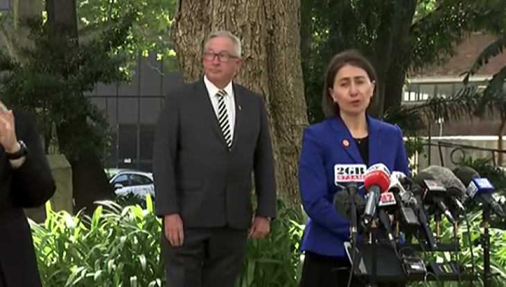 Premier Gladys Berejiklian addresses media on Friday. Source: ABC