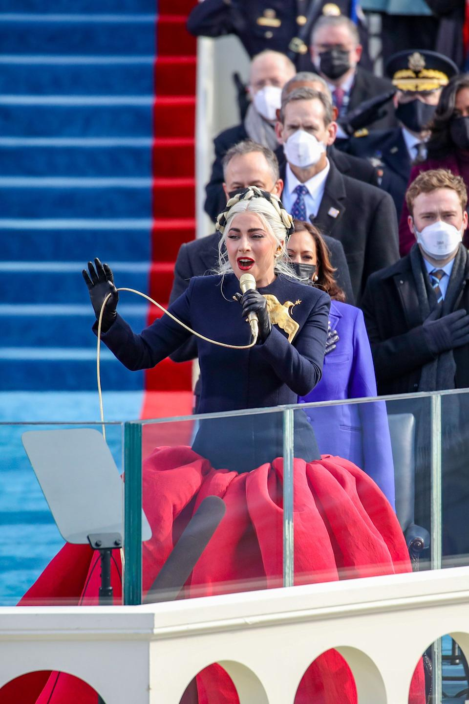Gaga performing during the inauguration (Photo: Rob Carr via Getty Images)