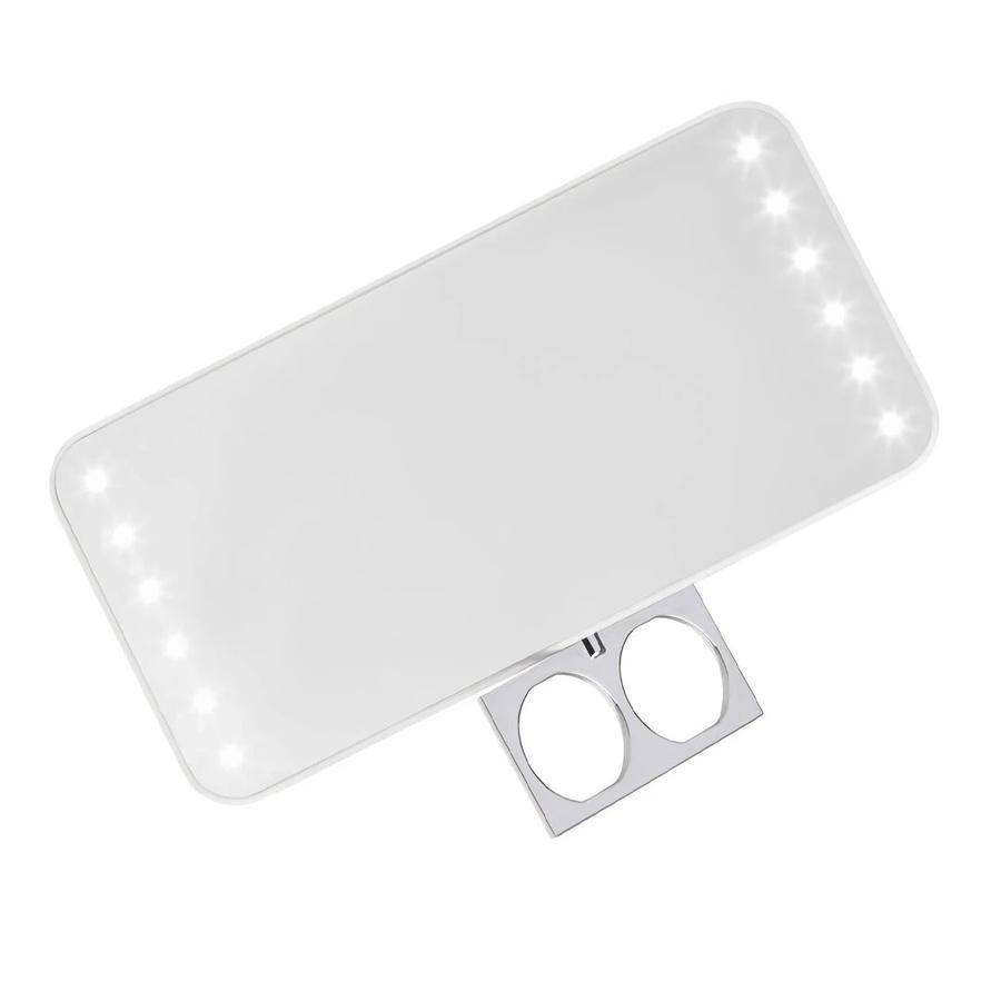 "This rechargeable, shatterproof pocket mirror boasts three levels of brightness, ensuring you've got good LED lighting wherever you go. And that retractable tab? That's for your fingers, allowing you to ""wear"" the mirror on and still have two hands to hold and apply makeup (<a href=""https://www.youtube.com/watch?v=Yqp3yQstzH4"" rel=""nofollow noopener"" target=""_blank"" data-ylk=""slk:here's what that looks like"" class=""link rapid-noclick-resp"">here's what that looks like</a>). There's also a kickstand for hands-free use. Reviewers are obsessed, giving it 4.1 out 5 stars on Ulta: ""This has been a great little mirror to have in my purse. The brightest illumination setting provides great lighting for makeup touch-ups in dimly lit rooms. I also like the fact that it has an internal rechargeable battery. The mirror is lightweight, making it comfortable to hold. It also doesn't weigh down my purse."" —<em>Stavroula, reviewer on</em> <a href=""https://shop-links.co/1717549899625916769"" rel=""nofollow noopener"" target=""_blank"" data-ylk=""slk:Ulta"" class=""link rapid-noclick-resp""><em>Ulta</em></a> $55, Ulta. <a href=""https://www.ulta.com/riki-cutie-mirror?productId=pimprod2009403"" rel=""nofollow noopener"" target=""_blank"" data-ylk=""slk:Get it now!"" class=""link rapid-noclick-resp"">Get it now!</a>"