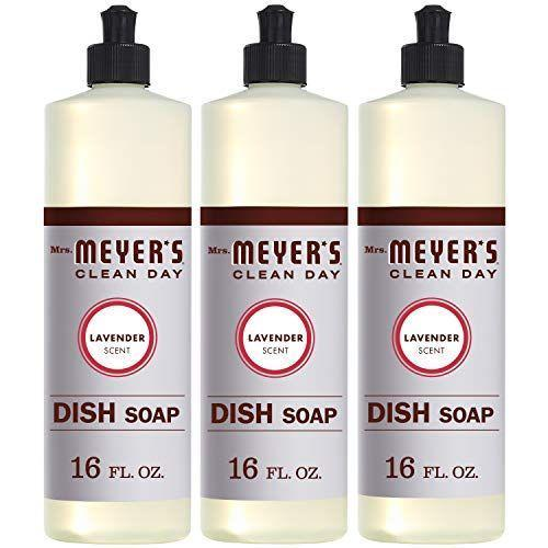 """<p><strong>Mrs. Meyer's Clean Day</strong></p><p>amazon.com</p><p><strong>$11.64</strong></p><p><a href=""""https://www.amazon.com/dp/B01M6779ER?tag=syn-yahoo-20&ascsubtag=%5Bartid%7C10055.g.29024275%5Bsrc%7Cyahoo-us"""" rel=""""nofollow noopener"""" target=""""_blank"""" data-ylk=""""slk:Shop Now"""" class=""""link rapid-noclick-resp"""">Shop Now</a></p><p>This pH-neutral cleanser that was designed to cut through the stubborn grease residue that clings to dishes. The plant-derived formula has a lovely lavender scent.</p>"""