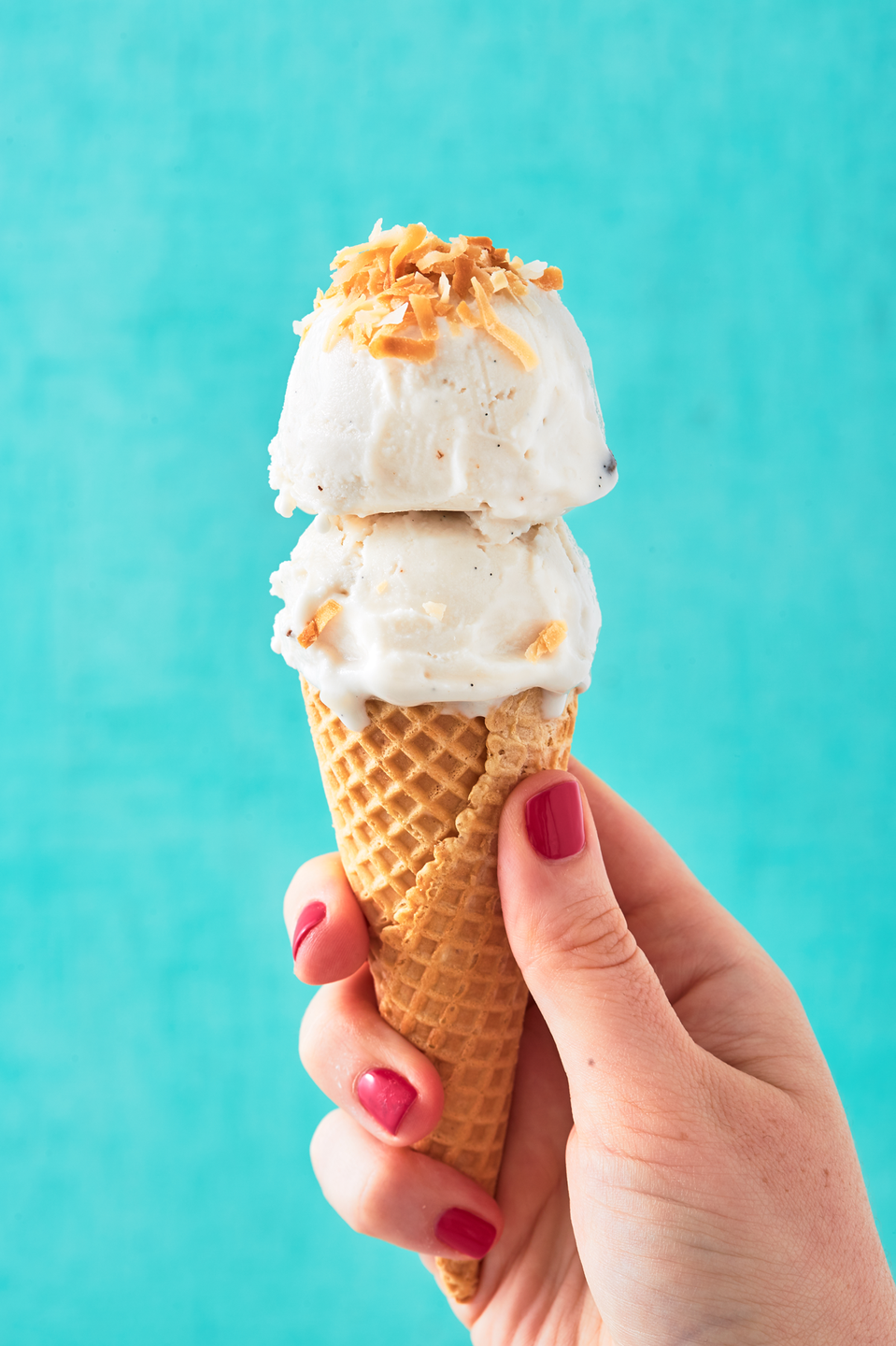 """<p>It's dairy free AND vegan!<br></p><p>Get the recipe from <a href=""""https://www.delish.com/cooking/recipe-ideas/a27971982/coconut-ice-cream-recipe/"""" rel=""""nofollow noopener"""" target=""""_blank"""" data-ylk=""""slk:Delish"""" class=""""link rapid-noclick-resp"""">Delish</a>. </p>"""