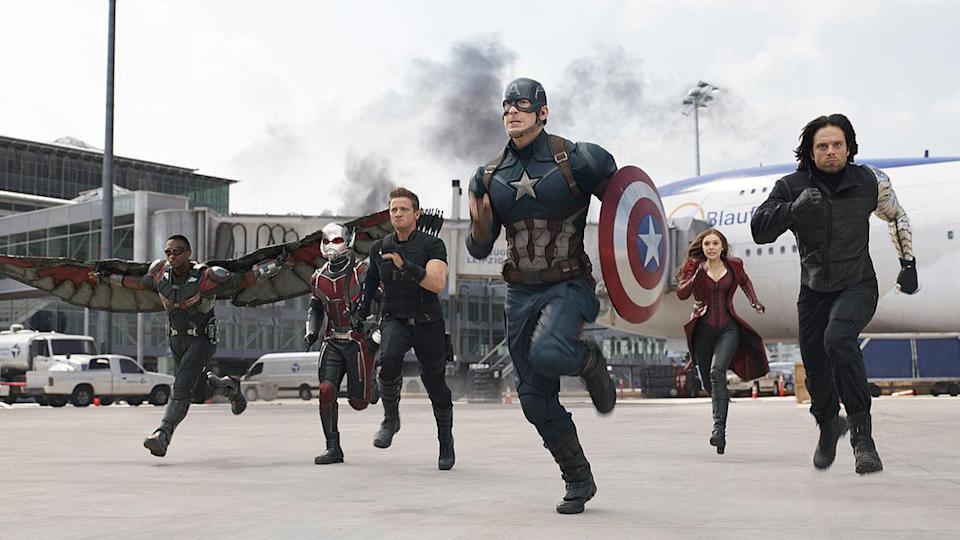 <p> Released in the same year as Batman v Superman, Captain America's third film – Civil War – didn't need to try too hard to beat its DCEU rival. Despite being thought of as Avengers 2.5 by fans thanks to the sheer volume of other MCU heroes who show up, Civil War is really Cap v. Iron Man, with the two characters squaring up against each other. </p> <p> After many world-ending missions, Civil War is a smaller, smarter story, about clashing ideologies, but it never gets bogged down with windy introspection – and because we know all the characters so well, we care deeply about their motivations and viewpoints. On top of that, there are the wonderful introductions of Spider-Man and Black Panther, <em>that</em> bit with Ant-Man, and Vision wearing a delightful range of knitwear. Villain-wise? It works, as the Big Bad turns out to be Captain America and/or Iron Man, depending on your point of view. Epic stuff. </p>