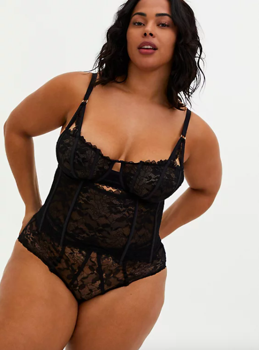 "<br><br><strong>Torrid</strong> Black Chantilly Lace Waist Cincher, $, available at <a href=""https://go.skimresources.com/?id=30283X879131&url=https%3A%2F%2Fwww.torrid.com%2Fproduct%2Fblack-chantilly-lace-waist-cincher%2F13886697.html%3Fcgid%3DTorridCurveIntimates_Lingerie%23start%3D46"" rel=""nofollow noopener"" target=""_blank"" data-ylk=""slk:Torrid"" class=""link rapid-noclick-resp"">Torrid</a>"