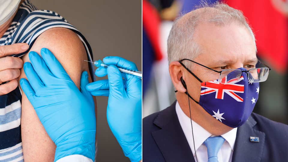 The Morrison government did not buy sufficient COVID-19 vaccines in a timely manner. Source: Getty