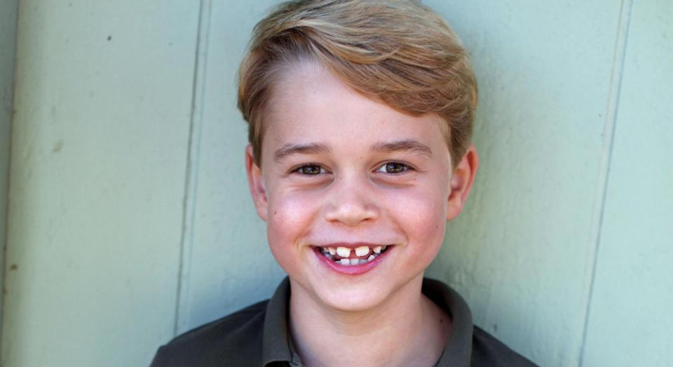 George, who is third in line to the throne, turns seven on Wednesday. (The Duchess of Cambridge)