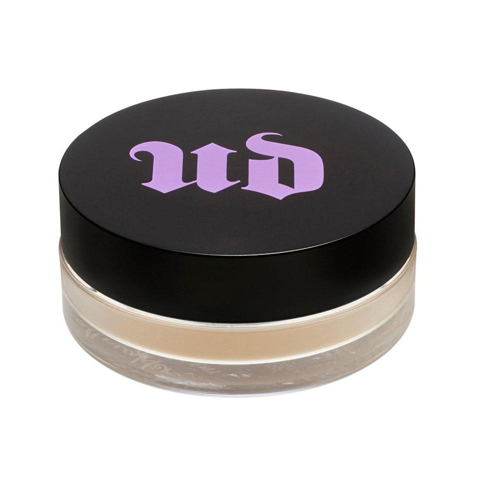 """Urban Decay's <a href=""""https://www.allure.com/gallery/best-of-beauty-base-makeup-product-winners?mbid=synd_yahoo_rss"""" rel=""""nofollow noopener"""" target=""""_blank"""" data-ylk=""""slk:Best of Beauty-winning"""" class=""""link rapid-noclick-resp"""">Best of Beauty-winning</a> All Nighter Long Lasting Makeup Setting Spray has been an integral product in many people's makeup routines for years, <a href=""""https://www.allure.com/gallery/best-setting-sprays?mbid=synd_yahoo_rss"""" rel=""""nofollow noopener"""" target=""""_blank"""" data-ylk=""""slk:locking in"""" class=""""link rapid-noclick-resp"""">locking in</a> beautiful creations and preventing creasing, slipping, and fading for hours on end. Now, a new member joins the insomnia crew, the All Nighter Loose Setting Powder. If you prefer to target certain areas of your face (i.e. the T-zone) instead of spritzing at large, this silky, <a href=""""https://www.allure.com/story/what-is-hyaluronic-acid-skin-care?mbid=synd_yahoo_rss"""" rel=""""nofollow noopener"""" target=""""_blank"""" data-ylk=""""slk:hyaluronic acid"""" class=""""link rapid-noclick-resp"""">hyaluronic acid</a>-infused formula does just that — leaving behind a translucent, matte finish that doesn't settle into pores or fine lines. Confidently say goodbye to <a href=""""https://www.allure.com/gallery/how-to-get-rid-of-oily-skin?mbid=synd_yahoo_rss"""" rel=""""nofollow noopener"""" target=""""_blank"""" data-ylk=""""slk:excess oil and shine"""" class=""""link rapid-noclick-resp"""">excess oil and shine</a> during the dog days of summer."""