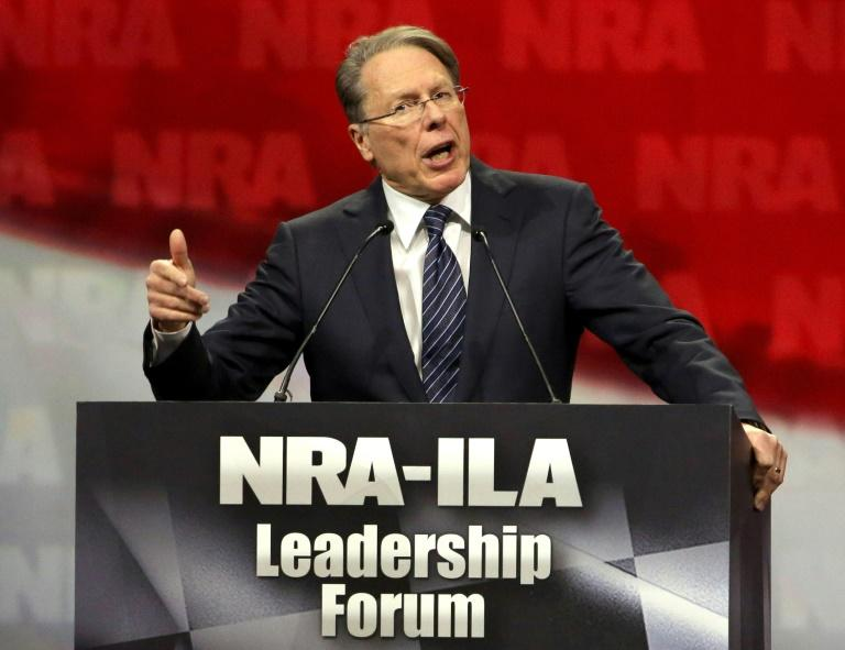 "National Rifle Association chief Wayne LaPierre, shown in this April 25, 2014 photo, says tougher gun laws would ""infringe upon the rights law-abiding citizens"""