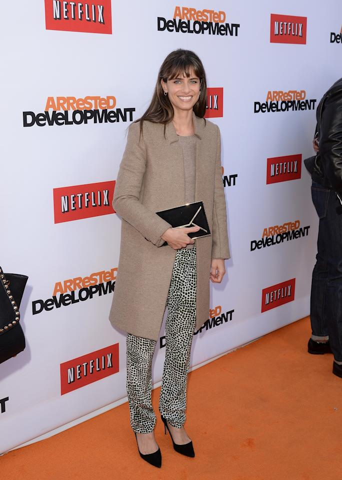 "HOLLYWOOD, CA - APRIL 29:  Actress Amanda Peet arrives at the TCL Chinese Theatre for the premiere of Netflix's ""Arrested Development"" Season 4 held on April 29, 2013 in Hollywood, California.  (Photo by Jason Merritt/Getty Images)"