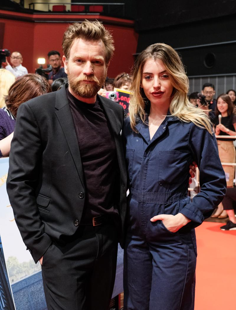 TOKYO, JAPAN - SEPTEMBER 05: Ewan McGregor (L) and daughter Clara McGregor attend the premiere of 'Christopher Robin' on September 5, 2018 in Tokyo, Japan. (Photo by Keith Tsuji/Getty Images for Disney)