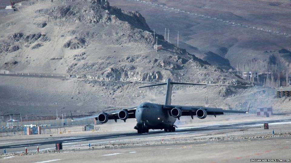India has landed heavy transport planes at the world's highest airstrip, Daulat Beg Oldi
