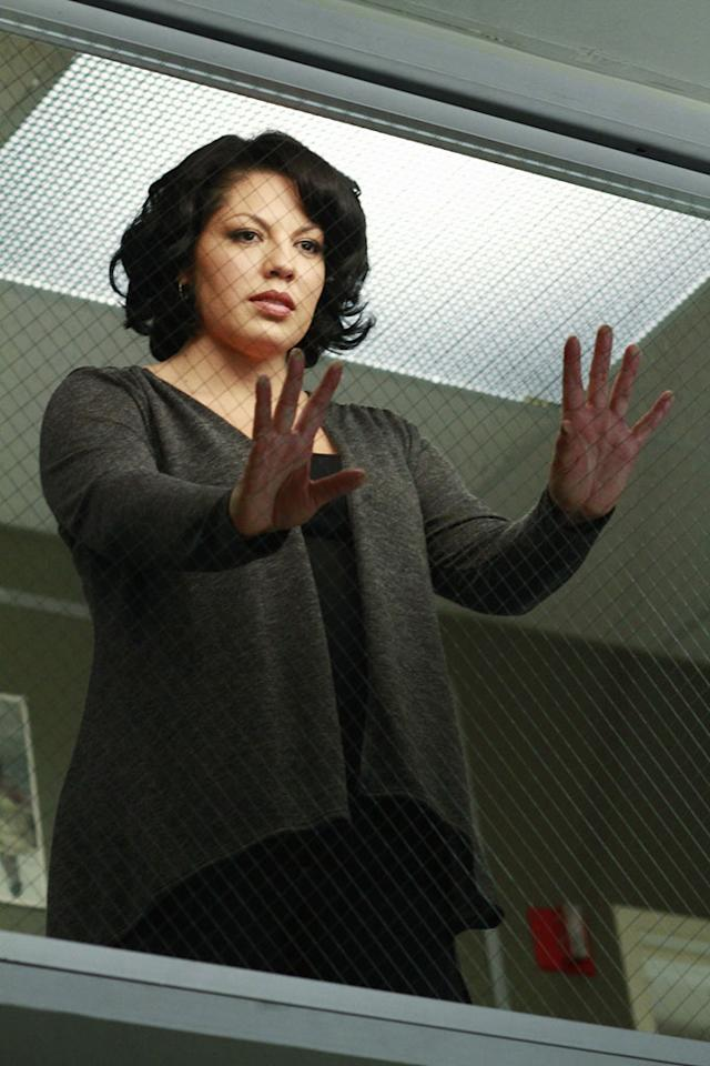 "Sara Ramirez as Callie Torres in the ""<a href=""/grey-39-s-anatomy/show/36657"">Grey's Anatomy</a>"" musical episode, ""Song Beneath the Song."""