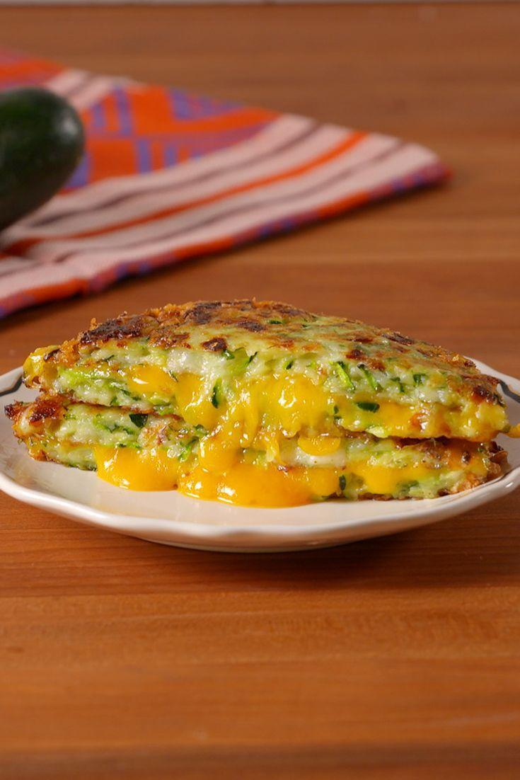 """<p>Zucchini is <em>so</em> the new cauliflower.</p><p>Get the recipe from <a href=""""/cooking/recipe-ideas/recipes/a52458/zucchini-grilled-cheese-recipe/"""" data-ylk=""""slk:Delish"""" class=""""link rapid-noclick-resp"""">Delish</a>.</p>"""