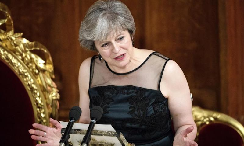 Theresa May used her annual Mansion House speech to accuse Russia of meddling in elections.