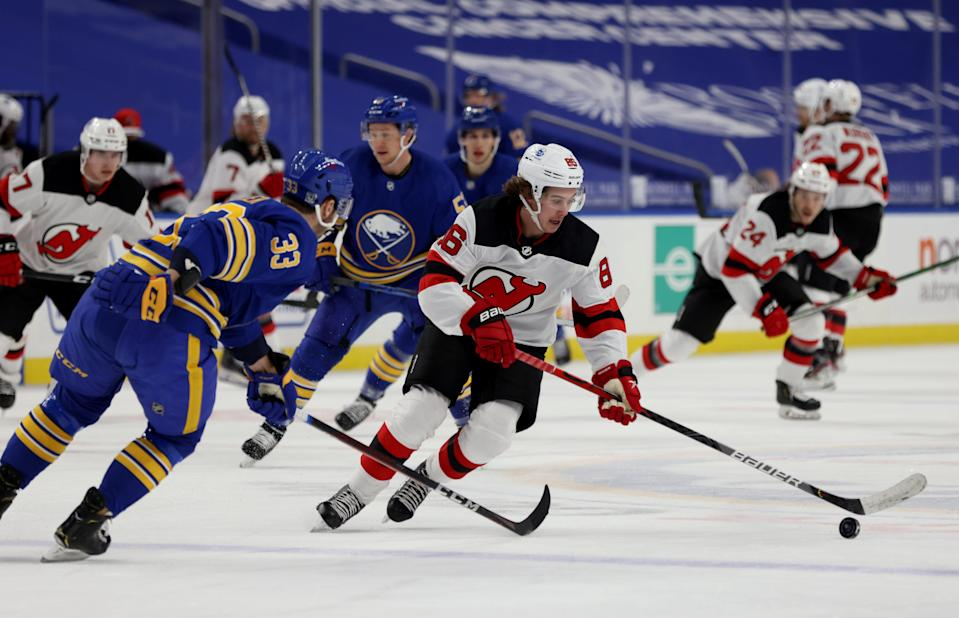 The Sabres and Devils, who played last weekend, are among teams whose seasons are on hold.