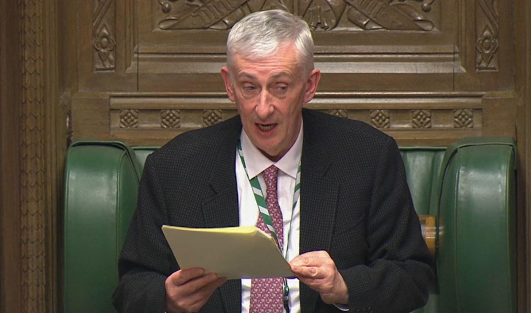 New Speaker of the House Sir Lindsay Hoyle speaks in the House of Commons, London, after the Conservative Party gained an 80-seat majority in the General Election.