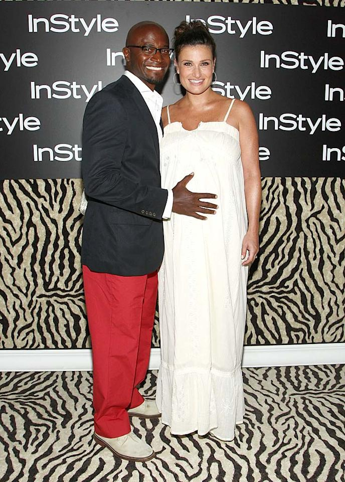 "Taye Diggs and his wife Idina Menzel became first-time parents on September 2 when their son, Walker Diggs, came into their lives. The couple met in 1996 while they were both starring in the Broadway production of ""Rent"" and wed in January 2003. Alberto E. Rodriguez/<a href=""http://www.gettyimages.com/"" target=""new"">GettyImages.com</a> - August 20, 2009"