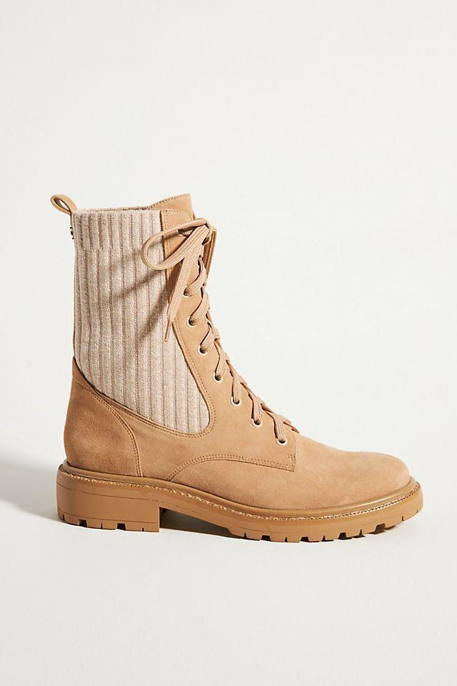 """<p><strong>Sam Edelman</strong></p><p>anthropologie.com</p><p><strong>$180.00</strong></p><p><a href=""""https://go.redirectingat.com?id=74968X1596630&url=https%3A%2F%2Fwww.anthropologie.com%2Fshop%2Fsam-edelman-lydell-lace-up-boots2&sref=https%3A%2F%2Fwww.townandcountrymag.com%2Fstyle%2Ffashion-trends%2Fg28225508%2Ffall-boots%2F"""" rel=""""nofollow noopener"""" target=""""_blank"""" data-ylk=""""slk:Shop Now"""" class=""""link rapid-noclick-resp"""">Shop Now</a></p><p>A knit back gives these neutral boots instant coziness. </p>"""