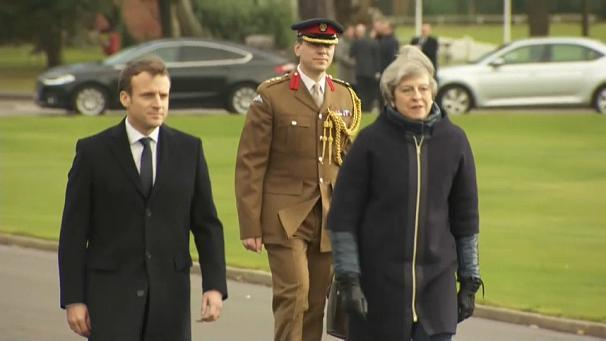 Emmanuel Macron has arrived in Britain for the first time as French president for talks on reinforcing security and boosting cross-Channel cooperation. Military matters are likely to dominate discussions, so it was perhaps fitting that Theresa May choose to greet Macron at Sandhurst, Britain's army officer training academy. The two sides are expected to commit to joint military operations including a combined expeditionary force. In addition, the UK has agreed, after lobbying from Paris, to help with security at Channel ports which have become a focus for migrants. Around 50-million euros will be sent to France to help improve fencing, CCTV and technology.
