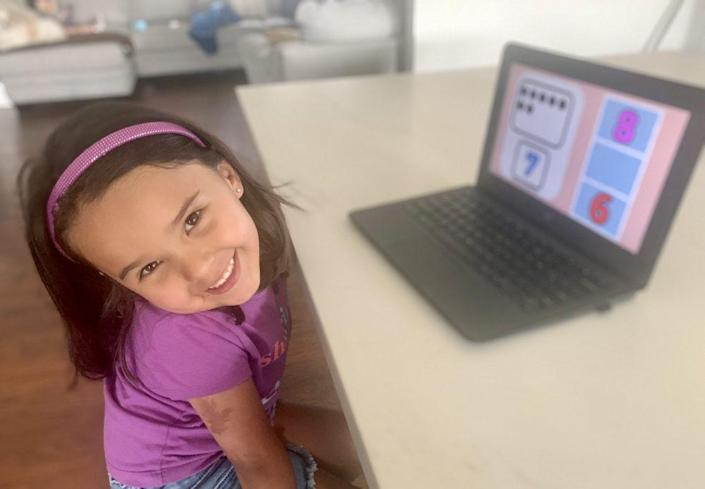 Camila Gonzalez attends a dual language preschool in the Azusa Unified School District in California, but sometimes her mother Cecilia Santiago-Gonzalez has wondered if it was worth the effort. (Cecilia Santiago-Gonzalez)