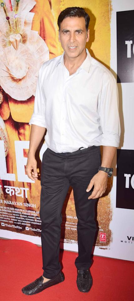 <p>Bollywood stars attend a special screening of 'Toilet: EK Prem Katha' </p>