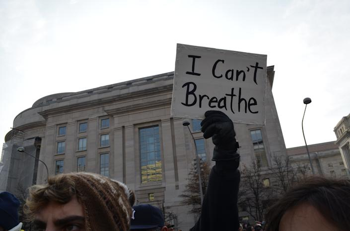 Protesters march toward the U.S. Capitol onDec. 13, 2014.