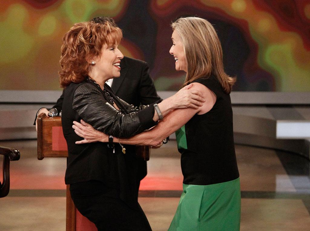 "Joy Behar and Meredith Vieira on Joy's final episode as co-host of ABC's ""The View"" on Friday, August 9, 2013."
