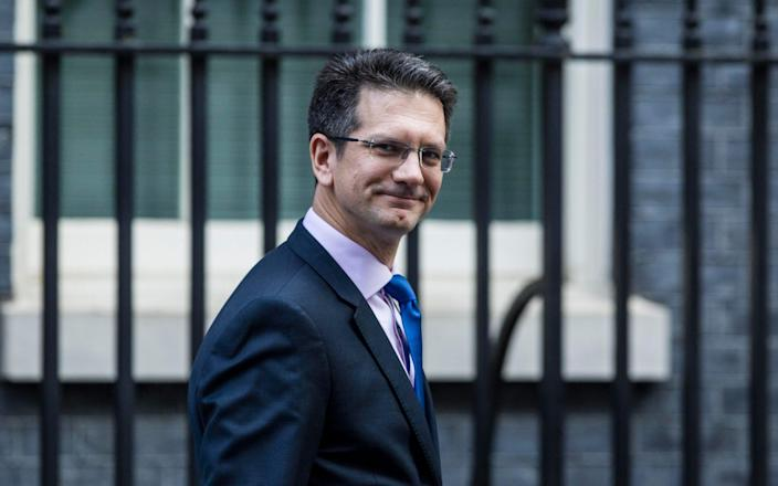 Steve Baker, the Chairman of the ERG, leaving a Cabinet Meeting at Downing Street. - Jeff Gilbert