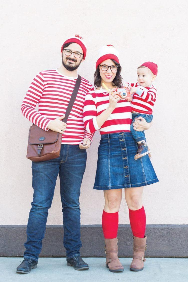 """<p>The best costumes are simple, easily recognizable, and can be pulled straight from your closet! Use your favorite red-and-white striped shirts to bring this idea to life in a snap.</p><p><strong>Get the tutorial at <a href=""""https://lovelyindeed.com/wheres-waldo-family-halloween-costumes/"""" rel=""""nofollow noopener"""" target=""""_blank"""" data-ylk=""""slk:Lovely Indeed"""" class=""""link rapid-noclick-resp"""">Lovely Indeed</a>.</strong></p><p><strong><a class=""""link rapid-noclick-resp"""" href=""""https://www.amazon.com/slp/red-and-white-striped-shirt/z2pvuspxpwvv639?tag=syn-yahoo-20&ascsubtag=%5Bartid%7C10050.g.23785711%5Bsrc%7Cyahoo-us"""" rel=""""nofollow noopener"""" target=""""_blank"""" data-ylk=""""slk:SHOP STRIPED SHIRTS"""">SHOP STRIPED SHIRTS</a></strong></p>"""