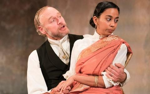 Elliot Cowan and Anjana Vasan in A Doll's House - Credit: Alastair Muir