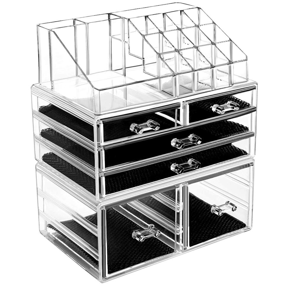"""<h2>Acrylic Makeup Organizer</h2><br>For your friend with every shade of lipstick and the perfect cat eye.<br><br><strong>hblife</strong> , $, available at <a href=""""https://www.amazon.com/hblife-Organizer-Acrylic-Cosmetic-Storage/dp/B07MMPN63T/ref=sxin_10_lp-trr-2-na_0946e4528f5108a5e7d1b9182ad432ac202744be?cv_ct_cx=Makeup+Acrylic+Organizer&dchild=1&keywords=Makeup+Acrylic+Organizer&pd_rd_i=B07MMPN63T&pd_rd_r=eac183d2-fdca-45a0-97f1-dec8d2326639&pd_rd_w=0C5g7&pd_rd_wg=o4ZcH&pf_rd_p=79c6e13e-fbdb-4ab1-8d83-9d1dbd2f11f4&pf_rd_r=YQF04VNNWSZRGTRHCAY7&qid=1603206980&sr=1-4-5519553e-2baa-451e-af83-b0156e5c6669"""" rel=""""nofollow noopener"""" target=""""_blank"""" data-ylk=""""slk:Amazon"""" class=""""link rapid-noclick-resp"""">Amazon</a>"""