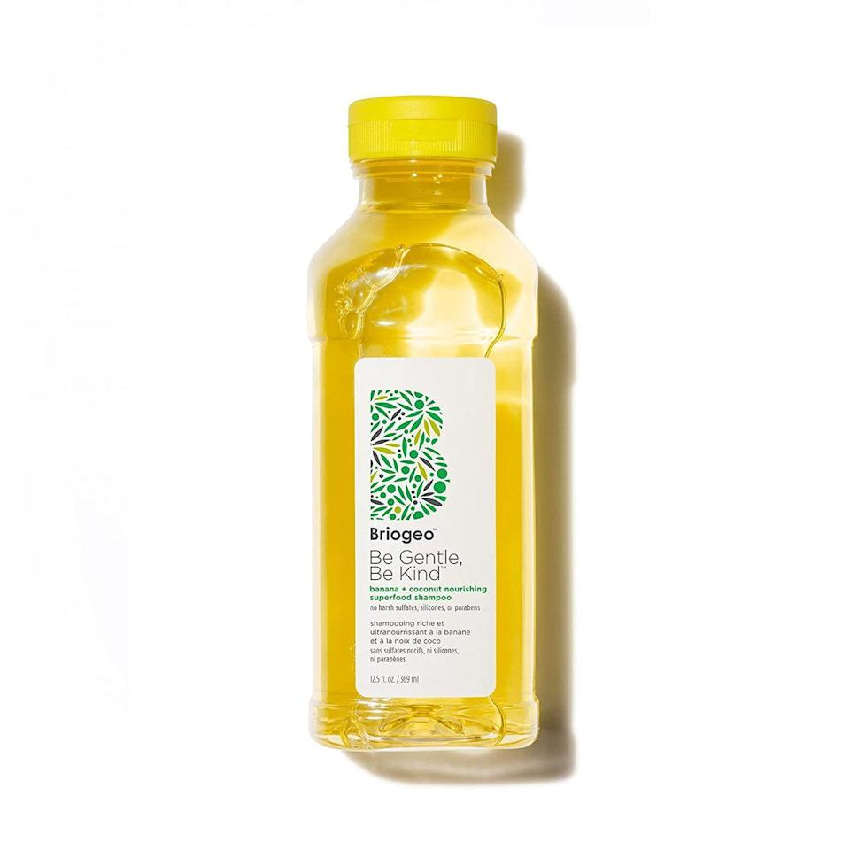 """<p>Finding the right shampoo can be tricky — you want something that will actually clean your hair without stripping it of its natural oils. This everyday shampoo is a juice cleanse for your hair filled with vitamins, antioxidants, and essential fatty acids.</p><p><a class=""""link rapid-noclick-resp"""" href=""""https://go.redirectingat.com?id=74968X1596630&url=https%3A%2F%2Fwww.ulta.com%2Fp%2Fbe-gentle-be-kind-banana-coconut-nourishing-shampoo-pimprod2021207&sref=https%3A%2F%2Fwww.seventeen.com%2Fbeauty%2Fg37036119%2Fnatural-hair-products%2F"""" rel=""""nofollow noopener"""" target=""""_blank"""" data-ylk=""""slk:Shop Now"""">Shop Now</a></p>"""