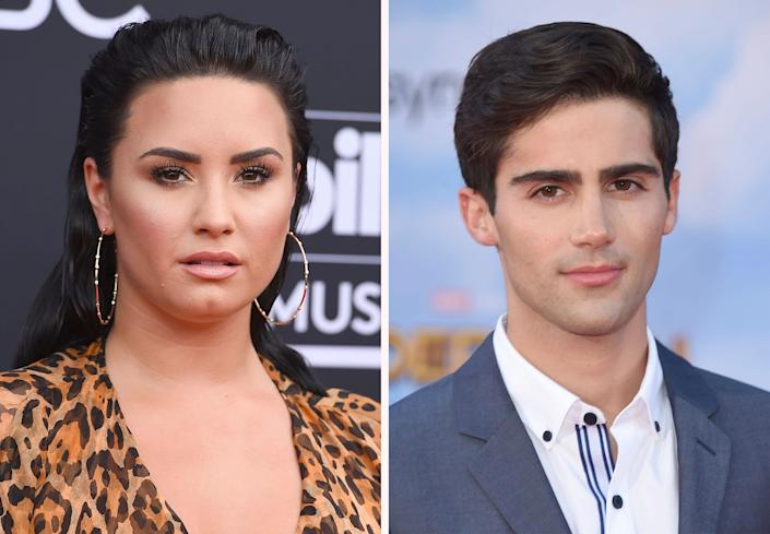 Demi Lovato and Max Ehrich split in September two months after announcing their engagement.  (Photo: ASSOCIATED PRESS)