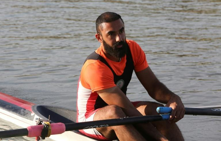 Rower Mohammed Ryadh will be one of just four Iraqi competitors at the Tokyo Olympics -- Iraq's smallest team since 1948