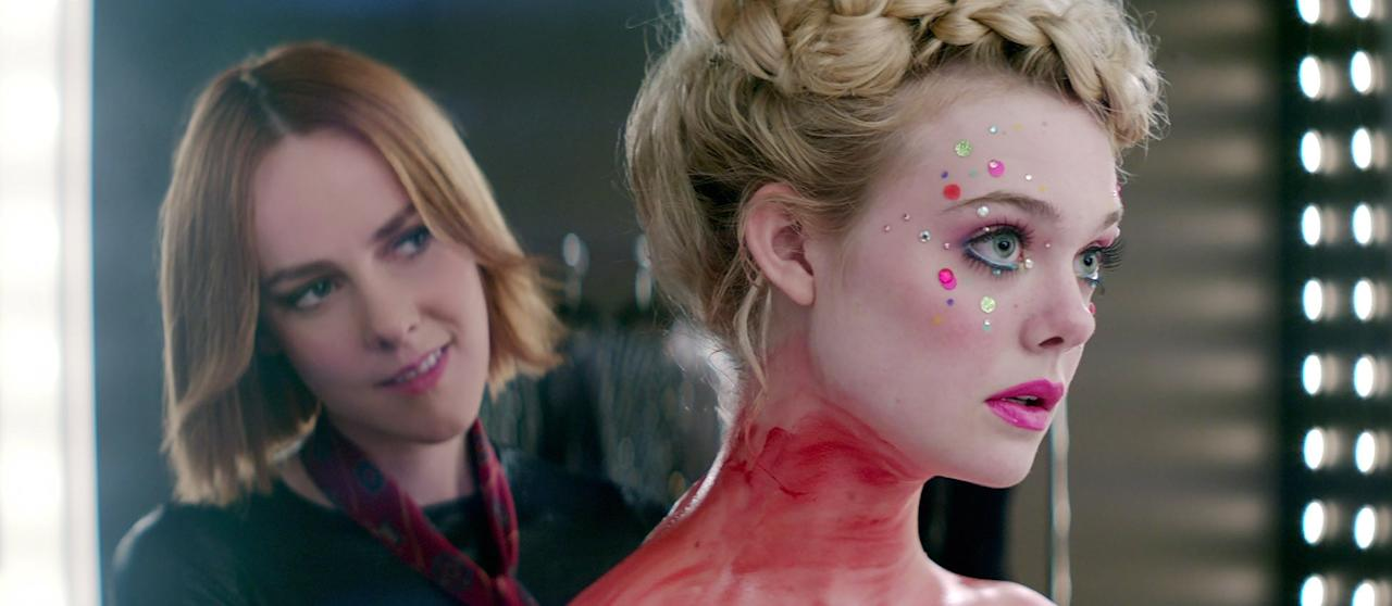 """<p>An aspiring model (played by Elle Fanning) moves to LA to launch her career, and, both fascinated and intimidated by the fresh-faced innocence of the ingénue, industry members instantly make her the target of intense scrutiny. Jesse's career takes off with the help of makeup artist Ruby (played by Jena Malone), but it soon becomes clear that Ruby's interest in Jesse is far more intense than she initially lets on.</p> <p><product href=""""http://www.amazon.com/Neon-Demon-Elle-Fanning/dp/B01GU8CL5C"""" target=""""_blank"""" class=""""ga-track"""" data-ga-category=""""internal click"""" data-ga-label=""""http://www.amazon.com/Neon-Demon-Elle-Fanning/dp/B01GU8CL5C"""" data-ga-action=""""body text link"""">Watch <strong>The Neon Demon</strong> on Amazon Prime</product>.</p>"""
