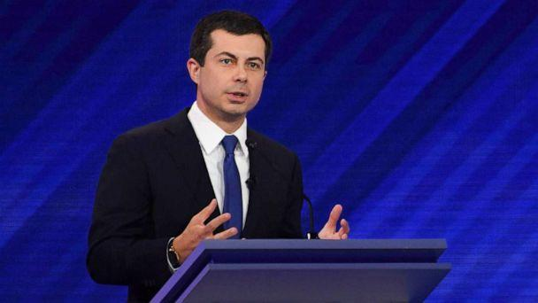 PHOTO: Democratic presidential Pete Buttigieg speaks during the third Democratic primary debate of the 2020 presidential campaign season at Texas Southern University in Houston, Texas, Sept. 12, 2019. (Robyn Beck/AFP/Getty Images)