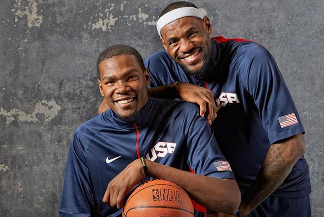 LeBron James has played with Kevin Durant before. (Getty Images)