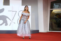 Penelope Cruz poses for photographers upon arrival at the closing ceremony of the 78th edition of the Venice Film Festival in Venice, Italy, Saturday, Sept. 11, 2021. (Photo by Joel C Ryan/Invision/AP)