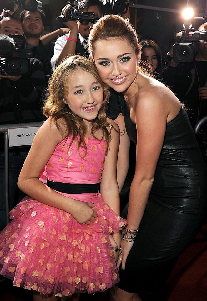 "<a href=""http://movies.yahoo.com/movie/contributor/1810089328"">Noah Cyrus</a> and <a href=""http://movies.yahoo.com/movie/contributor/1809849015"">Miley Cyrus</a> at the Los Angeles premiere of <a href=""http://movies.yahoo.com/movie/1810098775/info"">The Last Song</a> - 03/25/2010"