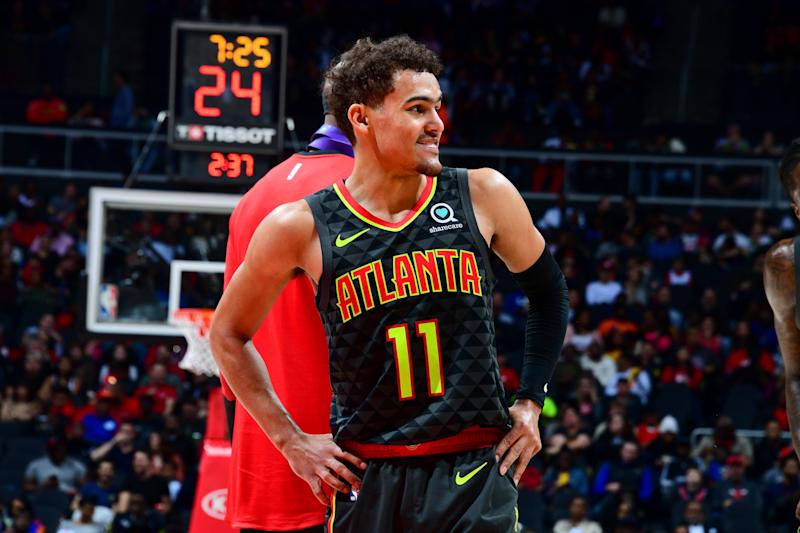 Yes, Trae Young likes where his game is right now. (Getty Images)
