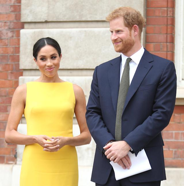 Meghan Markle and Prince Harry have sent out thank-you cards to those who wrote to them on the occasion of their wedding. (Photo: Yui Mok — WPA Pool/Getty Images)
